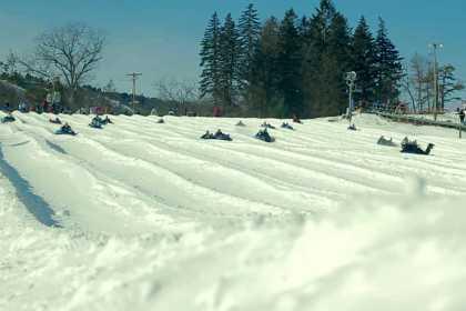 snow skiing Camelback mountain
