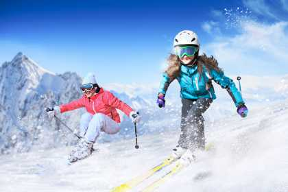 Hunter mountain snow skiing